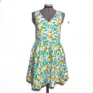 Elle Lemon Print Cross Back Sundress 12